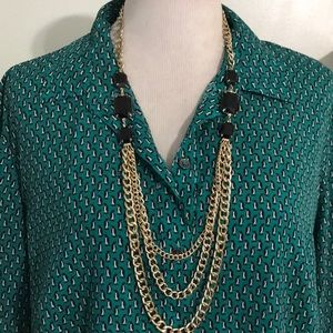 Jewelry - GOLD & BLACK LAYERED NECKLACE